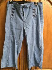 Cache Woman's Light Blue Capri Jeans Size 10