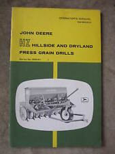 John Deere HZ Hillside Dryland Press Grain Drill Operator's manual