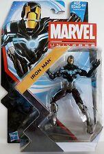 "IRON MAN (ZERO-GRAVITY SPACE ARMOR) Marvel Universe 4"" Figure #18 Series 5 2013"