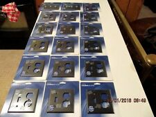 LOT OF 18 CREATIVE ACCENTS TEXTURED BLACK IRON FINISH WALLPLATE SWITCH COVER
