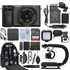 Sony Alpha a6300 беззеркальная цифровая камера с объективом 16-50 мм + 64 ГБ Pro Video комплект