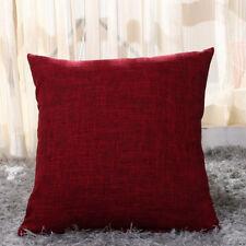 Vintage Cotton Linen Pillow Case Sofa Waist Throw Solid Cushion Cover Home Decor