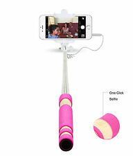Super Small Mini Monopod Pocket Selfie Stick Wired Remote For All Samsung Galaxy