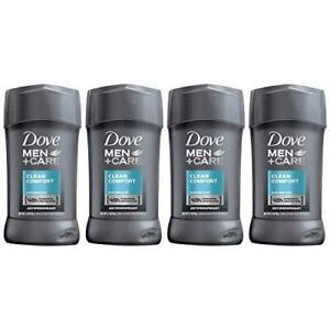 Dove Men+Care Antiperspirant Deodorant Stick, Clean 2.7 Ounce (Pack of 4)