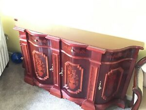 Italian Furniture Inlaid Large Sideboard Cabinet Cupboard / Console Table