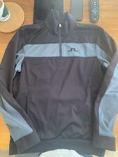J Lindeberg Golf Top - 1/4 Zip Fleece - Black & Grey - Medium