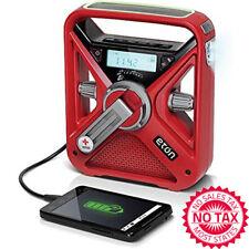 Weather Alert Radio NOAA AM FM Light Hand Crank Solar Power USB Charger Battery
