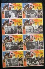 """ASSAULT ON A QUEEN"" FRANK SINATRA VIRNA LISI LOBBY CARD SET 1966 N MINT MEXICAN"