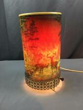 VntG 1956 L. A. Goodman MFG Co Forest Fire Large 11.5 Tall Motion Lamp