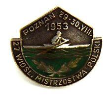 Distintivo A Rondella Con Smalti Canottaggio 27 Wiosl. Mistrzostwa Polski - Pozn