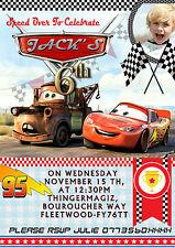 Inviti Per Festa Di Compleanno Personalizzati Disney Cars 8 biglietti 2 Disegni