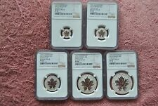 2013, Canada, 25th Anniv. Maple Leaf Reverse Proof Set, PF70