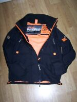 Superdry The Windattacker Black Jacket Size Small