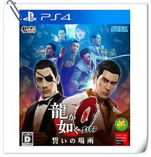 PS4 SONY PLAYSTATION Game 如龙0 誓言之地 中文版 Ryu Ga Gotoku Zero Action Sega