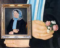 Original französisches Biedermeier Damen Portrait sign. Jean Baptist Coquin 1858