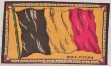 "Early 1900s Belgium Flag Felt Blanket Tobacco Cigar Box Premium 4"" x 6 1/2"""
