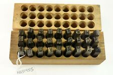 """Vintage Young Bros 1/4"""" Steel Stamps Letters 27 Pieces. Nice!"""