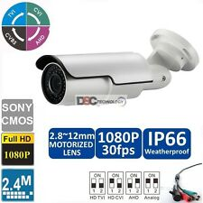 1080P FULL HD TVI/CVI/AHD CCTV BULLET CAMERA VARIFOCAL 2.8-12mm Motorized Lens