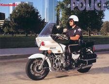 KAWASAKI KZ1000P POLICE 1000 MOTORCYCLE BROCHURE -KZ 1000 POLICE-KZP1000-KZP