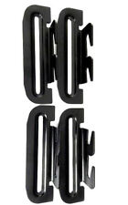 4Genx Bed Plate Adapter 4-Pack Black  Bed Hook Plate Conversion #35