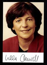 Ursula Schmidt AUTOGRAFO MAPPA ORIGINALE FIRMATO # BC 29606