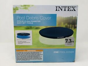 Intex 7.3 Ft Above Ground Swimming Pool Debris Cover - Vinyl Round Tarp