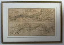 Thames Valley & basin: antique map by I Harris, c1720