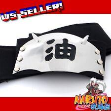 Naruto Shippuden Black JIRAIYA Ninja Headband Anime Cosplay Sanin Perv Toad Sage