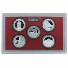 2010 US MINT 5 COIN AMERICA the BEAUTIFUL 90% SILVER PROOF QUARTER SET
