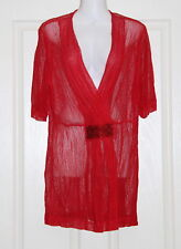 Womens size 16-18 red netting top made by SUSAN BLAKE