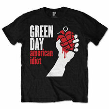 Official Unisex Men's GREEN DAY Music Band Classic AMERICAN IDIOT LOGO T Shirt