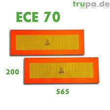2 x Heckmarkierung 565 x 200 ECE 70 Warntafel Folie Reflektor Anhänger Auflieger