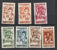 SARRE  GERMANY Yv 141/7 Sc B 23/9 Complete Set MNH