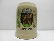 Heidelberg Germany Coat Of Arms 0.5L Gerz German Ceramic Beer Stein Mug
