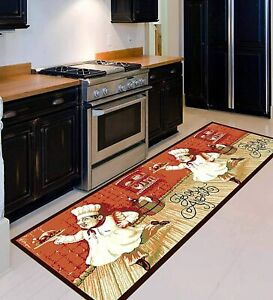 Red, Nylon Cartoon Runner Floor Mats Of 22 x 55 Inches For Home Decor - Pack 1