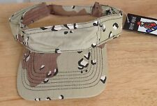 DESERT SAND ARMY CAMOUFLAGE 100% COTTON SUN VISOR STAG FANCY DRESS PAINT BALL