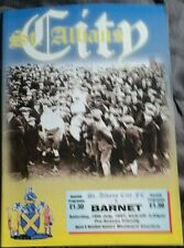 St Albans City v Barnet Friendly Programme 19/07/97