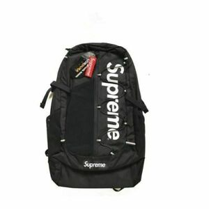 Brand NEW Sup 17ss Black Backpack Waterproof Box Logo Mountaineering Bags Travel