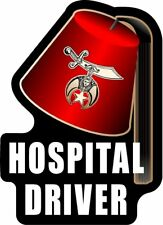 "ProSticker 115 (One) 4"" Masonic Shriner Hospital Driver Decal Sticker Lodge Fez"