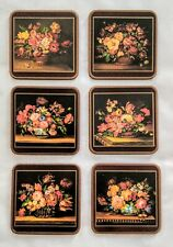 "Vintage Pimpernel ""Flemish Flowers"""" Coasters Cork Back New!"