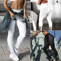 Women Yoga Fitness Leggings Running Jogging Gym Stretch Sports Pants Trousers