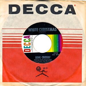 BING CROSBY on EXCELLENT 1960 Decca 23778 - WHITE CHRISTMAS