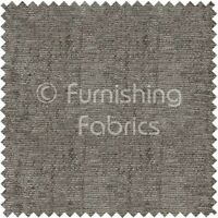 New Soft Plain Grey Chenille Look Fabric Curtains Material Upholstery Fabric