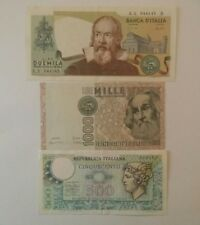 2000 LIRE GALILEO, 1000 LIRE GIUSEPPE VERDI II,  500 LIRE ARETUSA,  REPUBLICA