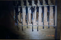 Vintage Photo Slide 1993 Gun Rack Barn New York Deer Camp