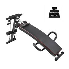 Sit Up Bench Decline Ab Abdominal Fitness Home Gym Exercise Workout Ab Traning