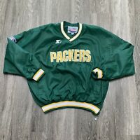 VINTAGE Green Bay Packers Starter Pullover Mens Extra Large Green NFL HipHop 90s