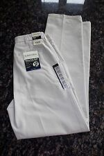 Mens St. Johns Bay tan Khakis pants 32x34 Classic Plain front Worry Free D