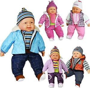 "Baby Cuddles Lifelike Soft Body Baby Doll - Large 20"" New Born Girls & Boys Toy"