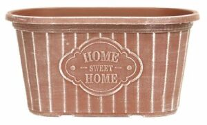 Oval 'Home Sweet Home' Planter 29cm - Powdered Brick Effect